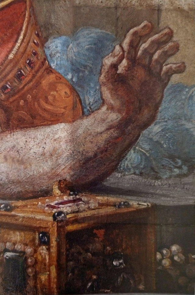 3. Delacroix murals detail cleaning with gels